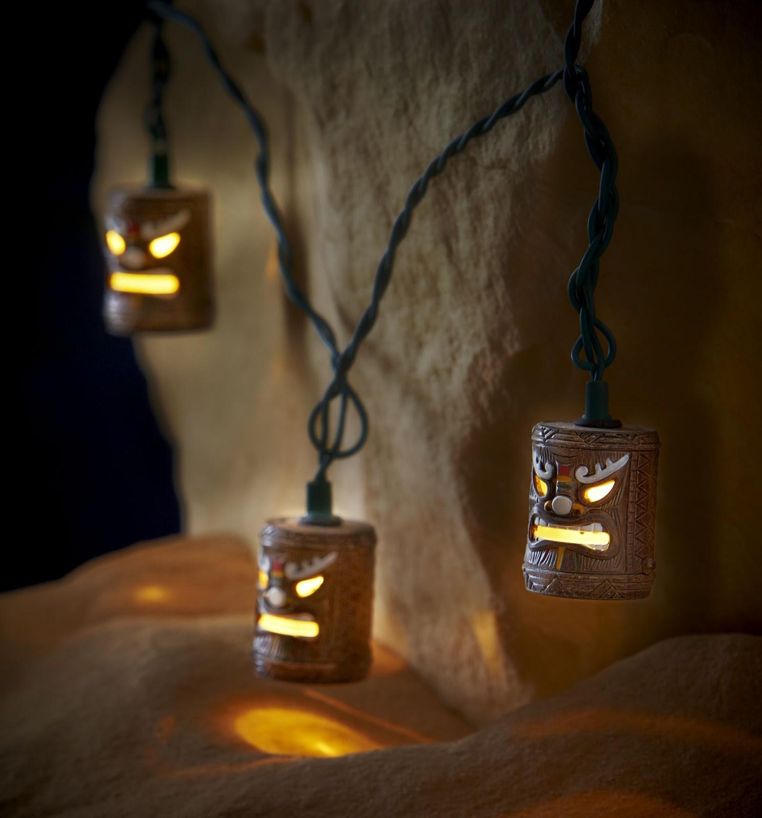 Tiki Head String Lights