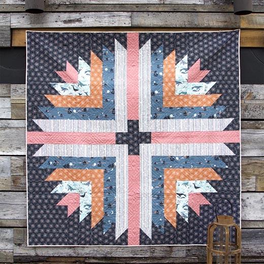 Polar Compass Quilt designed by Maureen of Maureen Cracknell Handmade for Art Gallery Fabrics