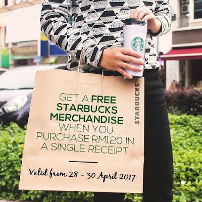 Free Starbucks Malaysia Merchandise Promo