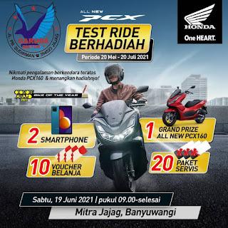 Event - Ridding Experience Honda PCX160 Mitra Swalayan Jajag