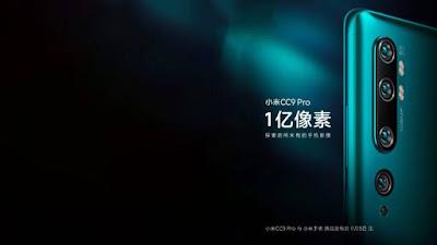 Xiaomi lançará o Mi CC9 Pro com 5 câmeras traseiras no dia 5 de novembro