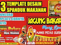 Download Contoh Desain Banner Makanan Kekinian Format CDR