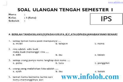 Soal UTS IPS Kelas 1 SD Semester 1 Ganjil Terbaru Lengkap Kunci Jawaban