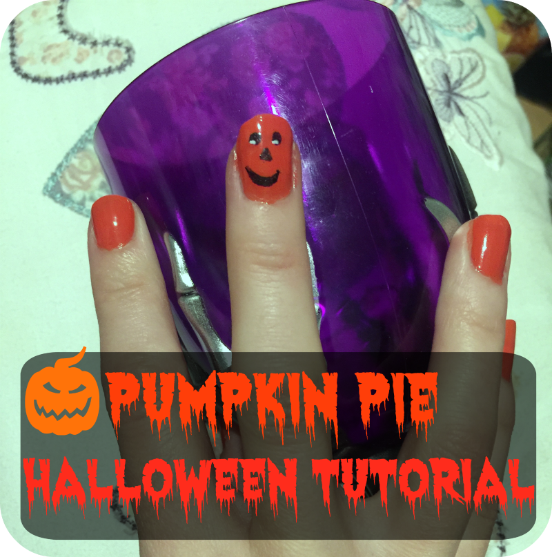 pumpkin nail tutorial