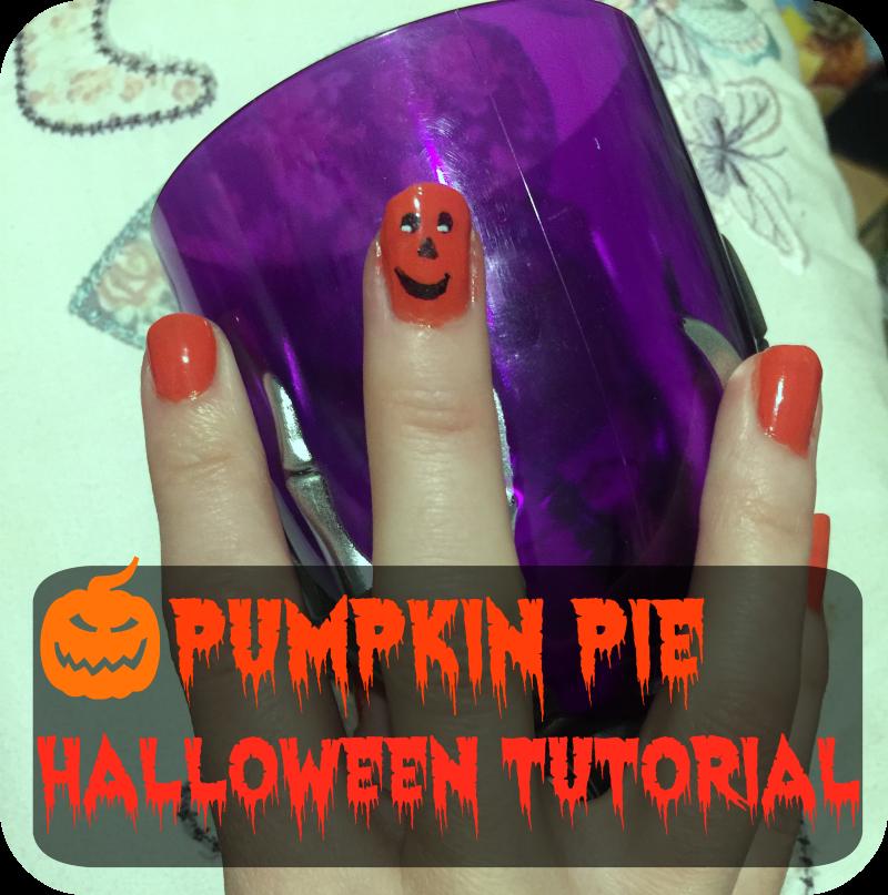 pumpkin nail tutorial