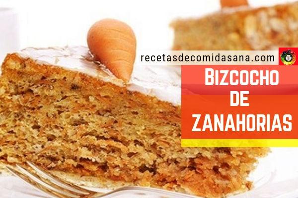 Deliciosa receta de bizcocho de zanahorias con ingredientes al alcance de todos.
