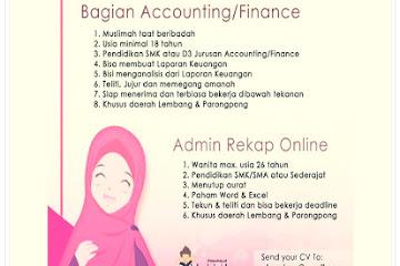Lowongan Kerja Bandung Accounting Finance Renita Store