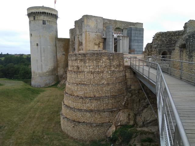 Vista interior del castell