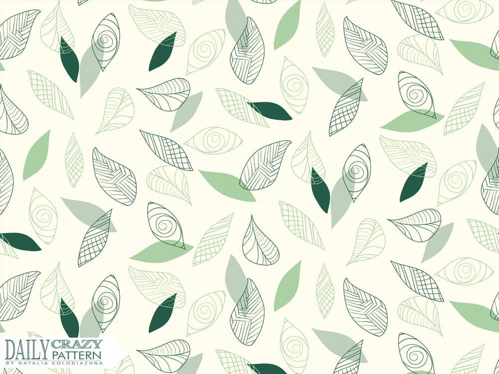 "Fancy art print for ""Daily Crazy Pattern"" project"