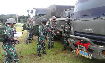 Komandan Batalyon Infanteri 9 Marinir Adakan Apel Organik Pasukan dan Gelar Material Tempur