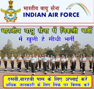 Indian Air Force Recruitment 2016, 29 Group 'C' Civilian Posts Recruitment 2016