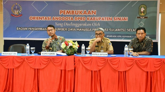 Ikuti Orientasi, 30 Anggota DPRD Sinjai Diingatkan Soal Fungsi Dewan