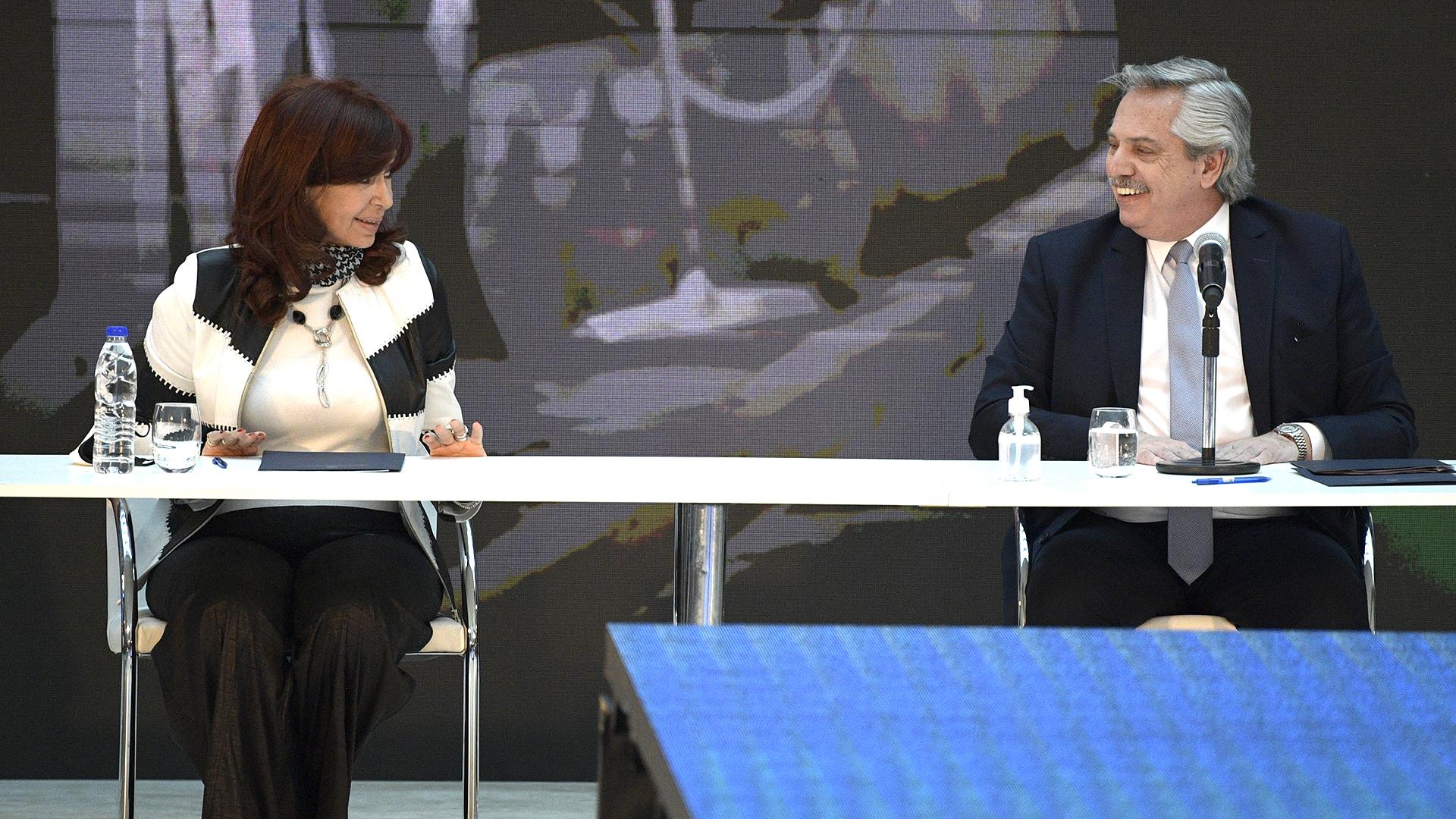 Cristina Kirchner apoyó a Alberto Fernández