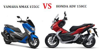 Perbandingan Spesifikasi Honda ADV dan Yamaha Nmax
