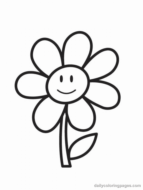 flower coloring pics flower coloring page