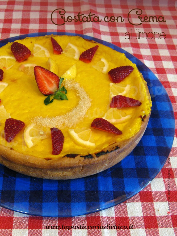 Crostata con crema al limone - la pasticceria di chico