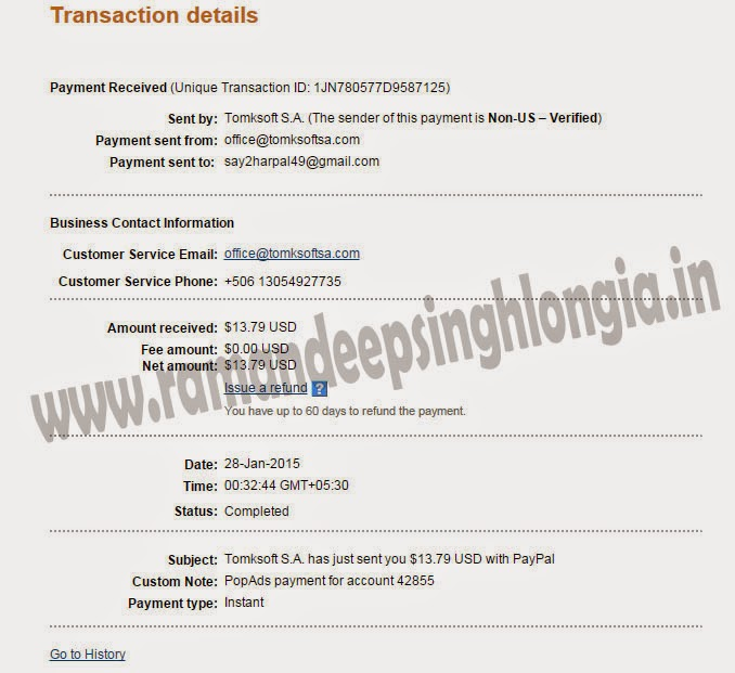 Popads.net payment proofs paypal