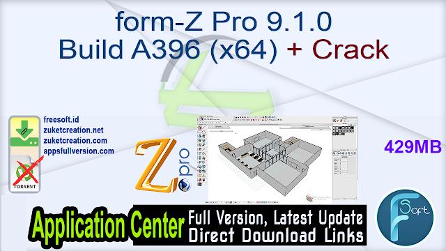form-Z Pro 9.1.0 Build A396 (x64) + Crack