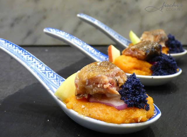 fischiscooking, räucherforelle, river fish, süßkartoffelpüree