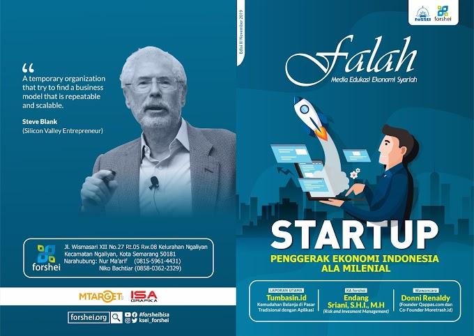 """Majalah Falah Edisi 11  """"Startup Penggerak Ekonomi Indonesia Ala Milenial"""""""