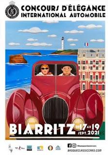 Concurso de la elegancia del Automóvil del País Vasco. En Biarritz