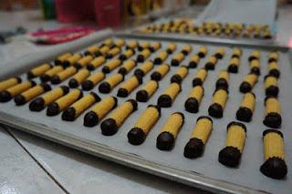 Kue batang coklat kue lebaran favorit
