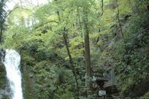 横野滝で滝開き