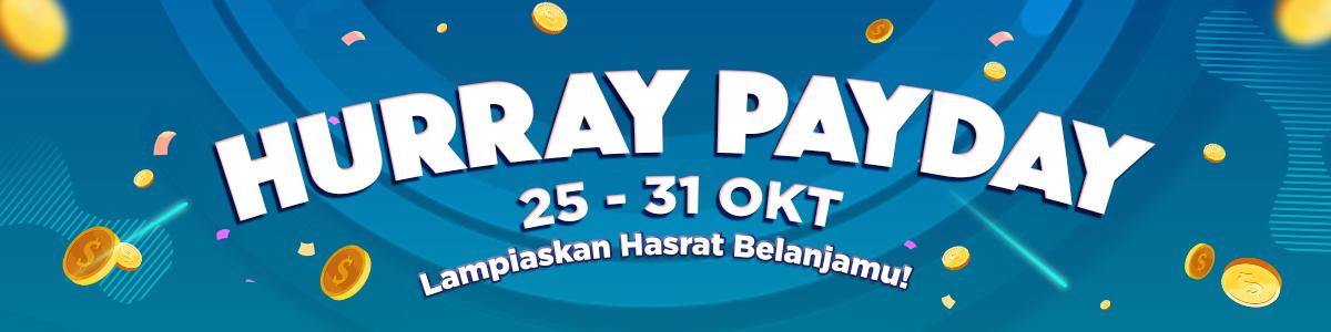 JDID - Promo Hurray Pay Day Diskon s.d 61 % ( 28 -31 Okt 2018)