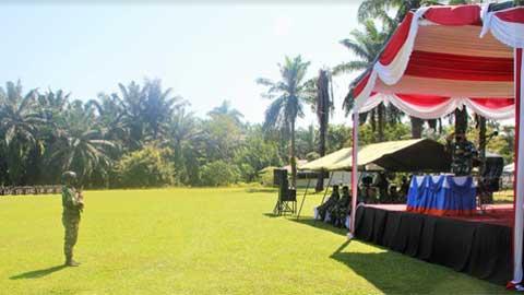 Latihan Pratugas Operasi Satgas Pengamanan Daerah Rawan Maluku dan Maluku Utara Yonarhanud 11/WBY TA 2021