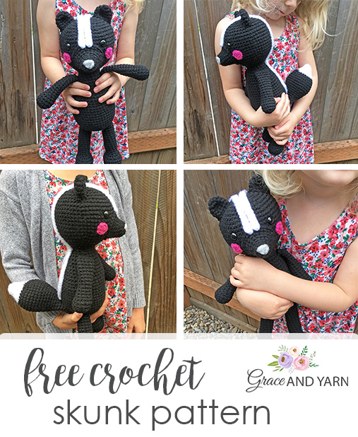 Free Crochet Skunk Pattern