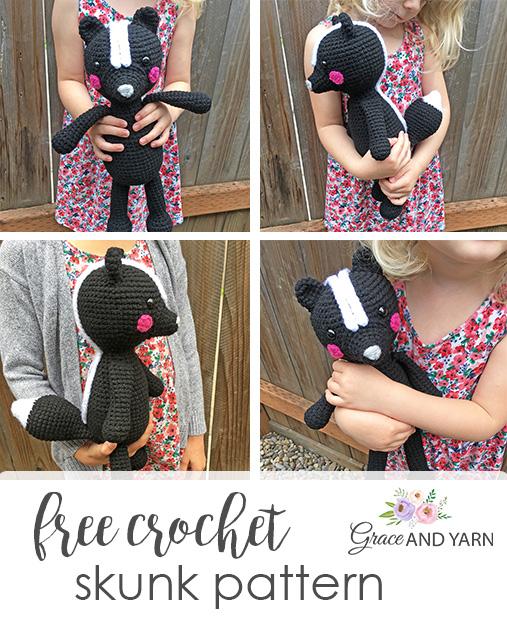 Free Crochet Skunk Pattern