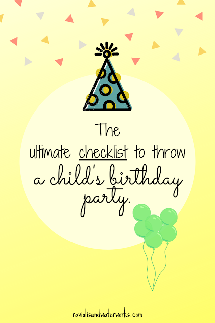 how to throw a kid's birthday party at home