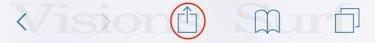 bouton partager sur iOS