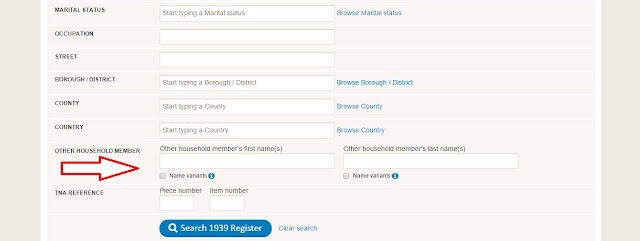 FindMyPast search functions