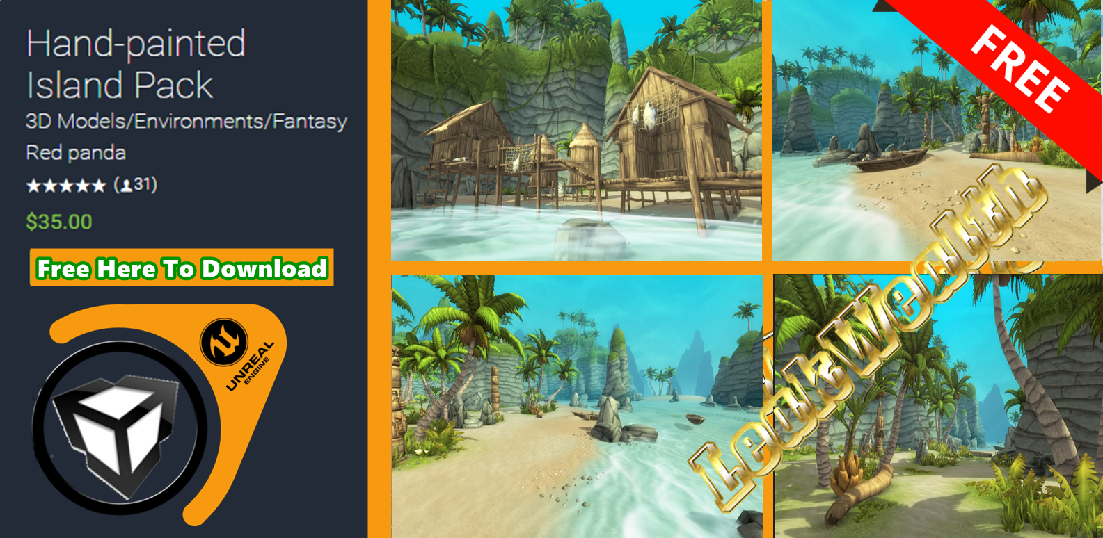 Hand-painted Island Pack - Game Art 3D