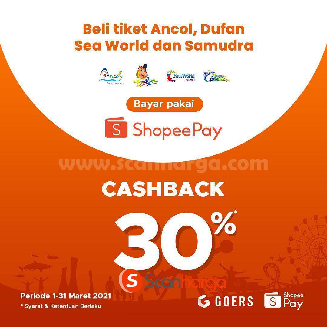 ANCOL Promo CASHBACK 30% khusus transaksi dengan SHOPEEPAY