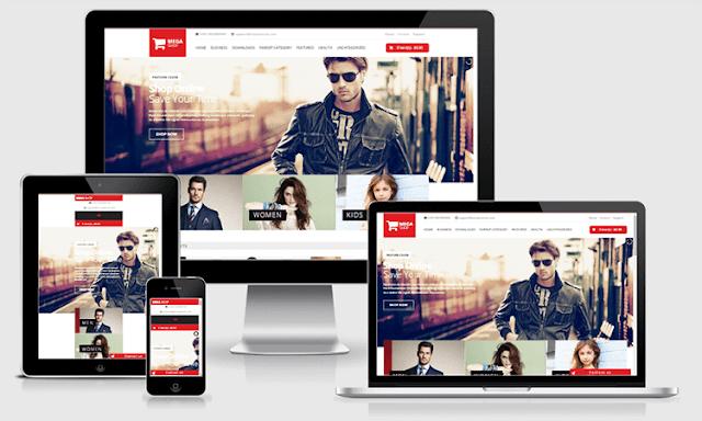 Mega Shop Ecommerce Template - Giao diện bán hàng blogspot chất lượng cao