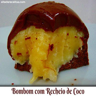 Bombom com recheio de coco