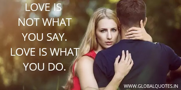 Emotion is not what you say. Emotion is what you do