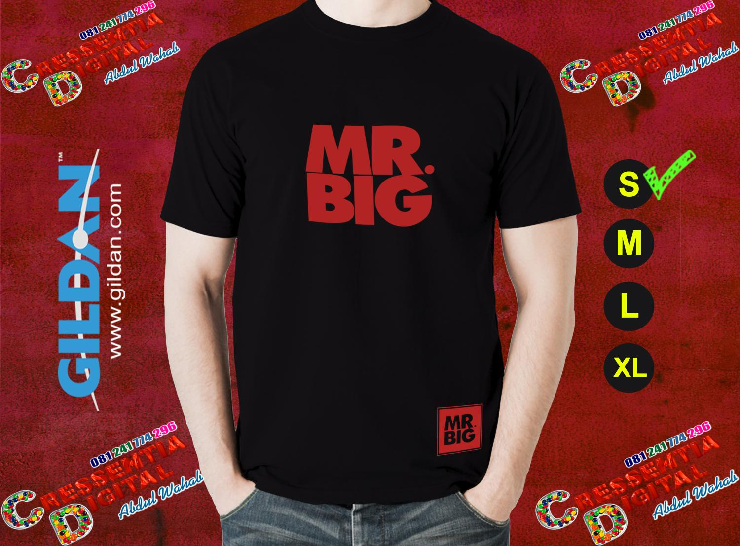 Kaos Mr Big Distro Id Warna Hitam Model Pria
