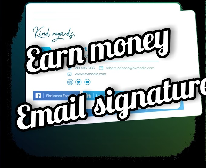 This is the Genuine way to earn money online on, During or After Corona time by selling Clickable E-mail signature.