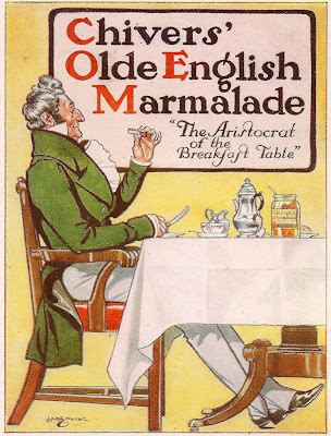 H M Brock illustration for Chivers' Old English Marmalade, 1912
