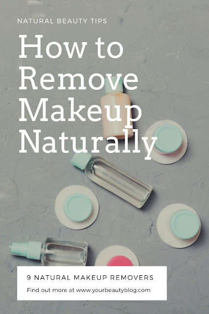 How to remove makeup naturally without using makeup remover that may have chemicals.  Use this for natural beauty or if you're just out of makeup remover. These natural products remove makeup from face without toxins or chemicals. If you practice natural skincare, try these tips for the best way to take makeup off.  Some you can buy and some you can DIY at home. #naturalbeauty #skincare