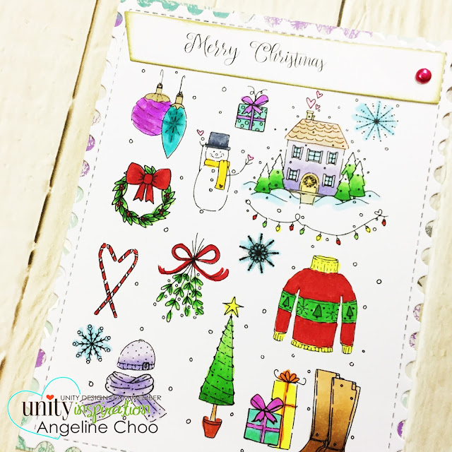ScrappyScrappy: Merry Holiday cards with Unity Stamp #scrappyscrappy #unitystampco #katscrappiness #card #cardmaking #craft #crafting #scrapbook #scrapbooking #stamp #stamping #copic #christmas #holiday #christmascards #diecut #katscrappinessdies