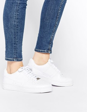 Nike Air AF1 Ultra Force ESS White Trainers, $118.60 from ASOS