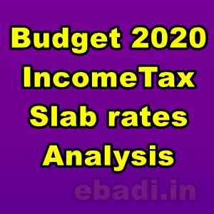 Budget 2020 - Income Tax Slab rates Analysis