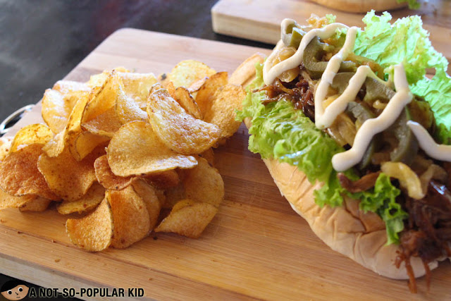 Pulled Pork Sandwich  of Route 55, Baguio