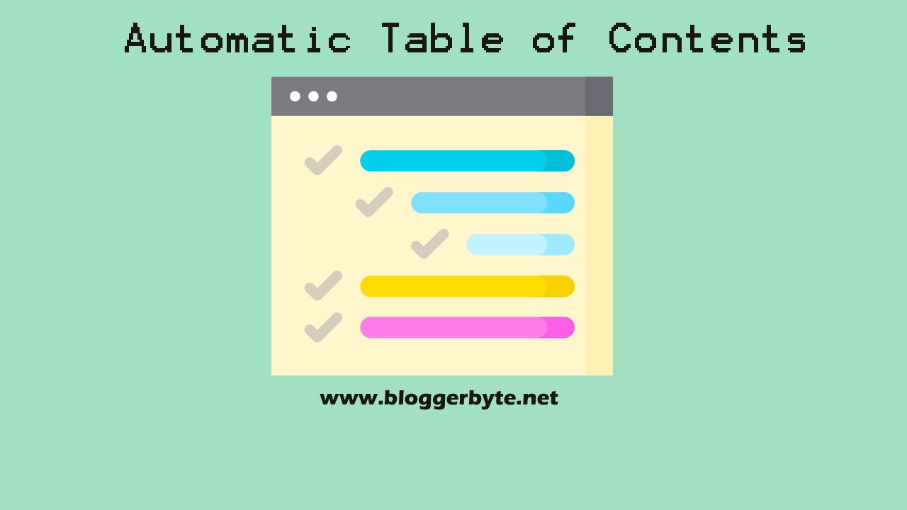 How to Create an Automatic Table of Contents on Blogger