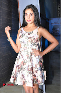 Actress Madhu Shalini Stills in Floral Short Dress at RGV Shiva to Vangaveeti Event  0092.JPG