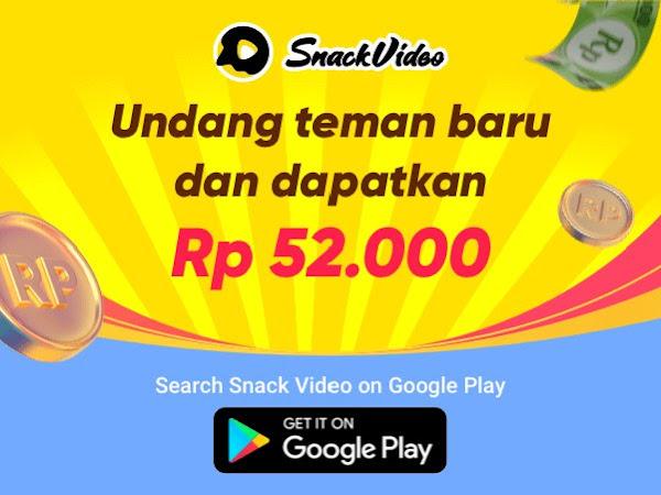 cara dapatkan uang dari snack video